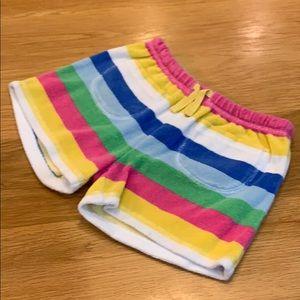 Mini Boden Terry rainbow 🌈 Summer Shorts Size 8-9